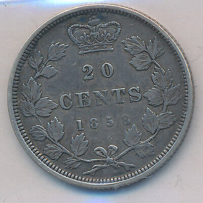Canada 20 Cents 1858 - ICCS VF-20