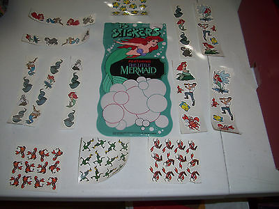 Disney The Little Mermaid Sticker and Pouch Early 90's Pace Design Over 75