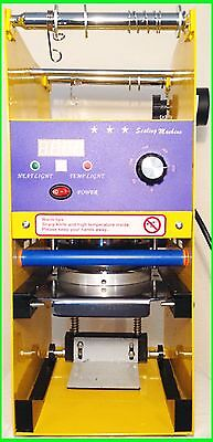 Semi Automatic Cup Sealer Sealing Machine Coffee Boba Bubble Tea 300-500 Cups/hr