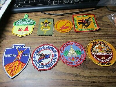 Eight Different 1950's-60's Boy Scout Patches L3
