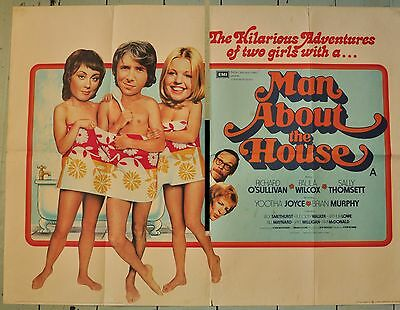 "Man About The House - Original UK Quad Film Poster 30"" x 40"" - 1974"