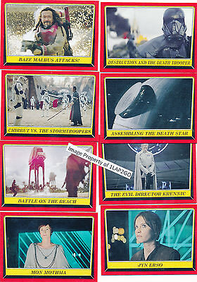 2016 Topps Star Wars Rogue One Mission Briefing Complete 110-Card Base Set