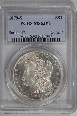 1879 S Morgan Silver Dollar MS63PL PCGS United States Mint Coin