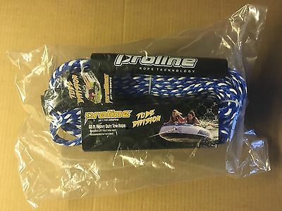 Proline Delux Heavy Duty Tube Tow Rope 60' 5/8 Inch Blue