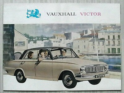 VAUXHALL VICTOR SUPER DE LUXE Saloon & Estate Car Sales Brochure 1964 #V1466