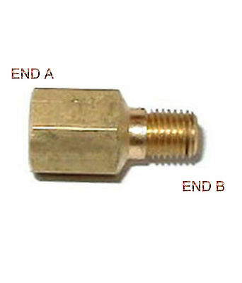 """1/8"""" Female BSPT to 1/8 Male NPT Coupling Brass Pipe Fitting Gauge adapter NT-8N"""