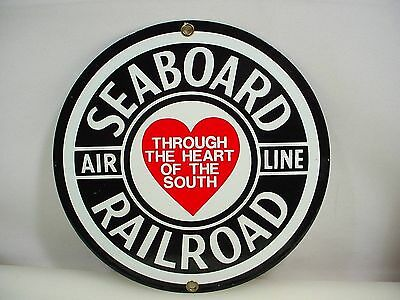 Seaboard Railway Airline Sign Enamel Repro Railroad Sign
