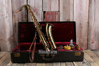 Selmer Bundy Vintage 1939 Stencil by Buescher Tenor Saxophone Made in USA w Case