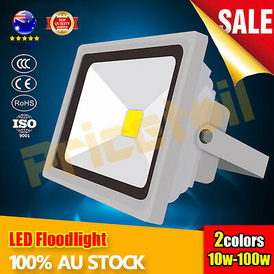 OZ 10W-100W High Power LED Floodlight SMD Outdoor Flood Spotlight 220-240V IP65