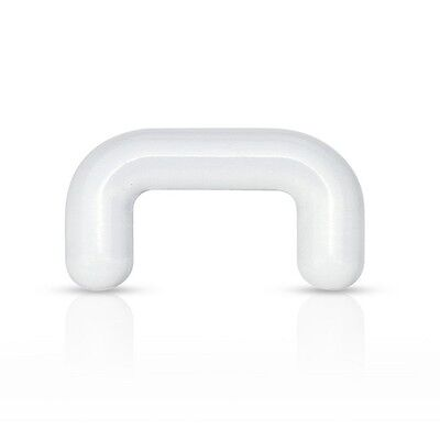 New Clear Acrylic Nose Septum Retainer Keeper Bar 6mm 16g 14g