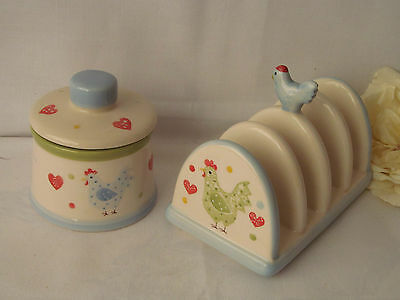 Price and Kensington Lidded Pot and Toast Rack
