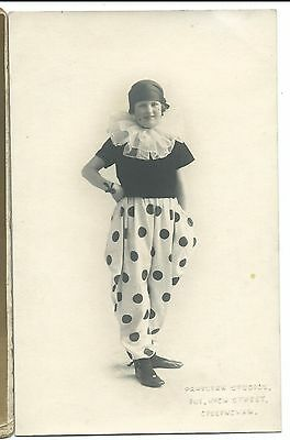 Girl in Fancy Dress for Chatham Naval Barracks Party RP PPC, Dated 1923, Unused