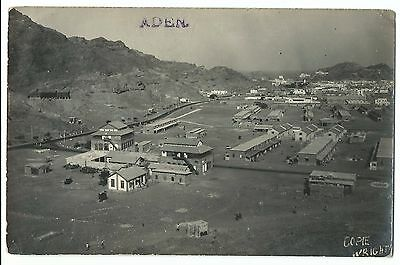 Aden RP PPC, Unusual View, Shows a Barracks, Good Inscription to Reverse