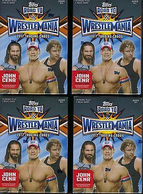 (4) 2017 Topps WWE Road To Wrestlemania Wrestling Cards Value/Blaster Box LOT