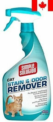 Simple Solution Cat Stain and Odor Remover Spray Bottle, 32-Ounce