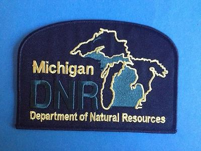Michigan Department of Natural Resorces DNR Collectible Jacket Hat Patch Crest
