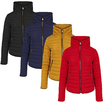 cf2dbd8a1eb Tokyo Laundry Womens Honey Padded Jacket Ladies Zip Up Quilted Funnel Neck  Coat