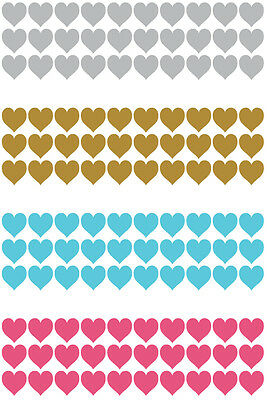Heart Stickers 10mm for Valentines Card Making Self Adhesive wedding party Glass