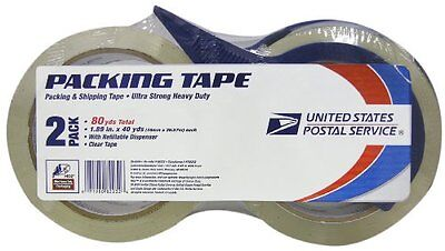 LePage's  USPS HD2 Packaging Tape, 2 Inches x 40 Yards , 2 Pack (82232)...NEW