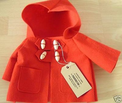 "NEW REPLACEMENT COAT TO FIT A 14"" GABRIELLE PADDINGTON choice of colours"