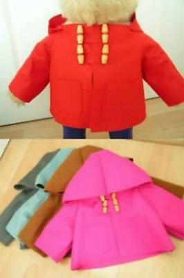 "Replacement Duffle Coat For An 18"" Gabrielle Paddington Includes Printed Label"