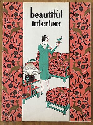 """Beautiful Interiors"" By S. Karpen & Brothers, Furniture Art Deco Catalog, 1928"