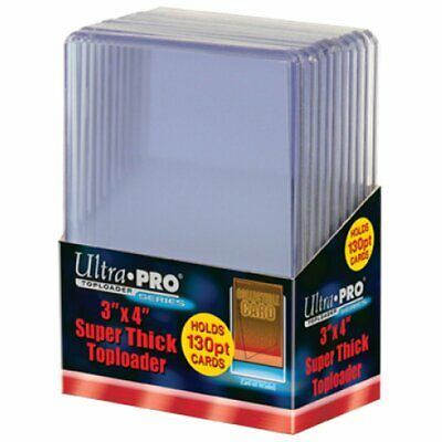 "ULTRA PRO Top Loader - 3"" x 4"" 130pt Super Thick Top Load MTG Pokemon Yugioh"