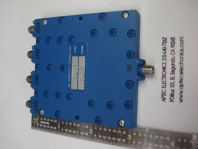 KDI/Triangle Microwave YF-51 0.5-2.0GHz 4 way inphase power dividercombiner used