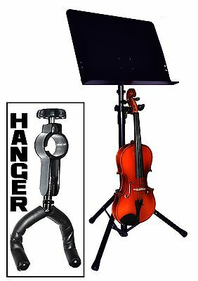 Violin Hanger. Attaches To Music Stand Upright - New