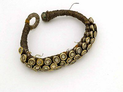 Islamic Mughal ethnic bracelet in silver and gold, India early 19th century