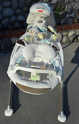 Fisher-Price My Little Lamb Cradle 'N Swing Used Works Well