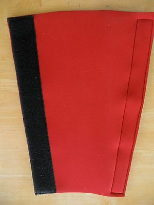 Neoprene Horse tail wrap red