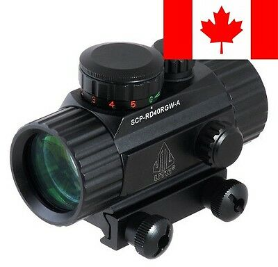 Leapers UTG New Gen 4-Inch Red/Green Dot Sight with Integral Picatinny Mounti...