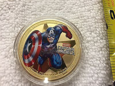 2014 Marvel Captain America Canada 24k Gold Plated Collector Coin