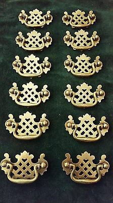 Set Of 12 Old,vintage 2 1/2 Inch Center To Center Drawer Pulls Handles (B)