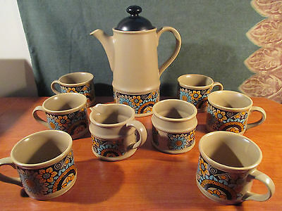 Vintage ~ Sadler Coffee/Tea Set ~ 6 Cups With Cream & Sugar
