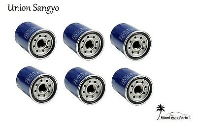 Set of 6 Oil Filter Union Sangyo For Honda Civic CR-V Accord Acura ILX MDX