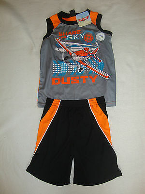 """DISNEY PLANES """"DUSTY"""" 2 piece SET SHORTS & TANK TOP NWTS SOFT.SILKY & COOL"""