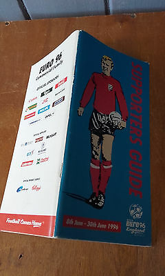 Euro 96(1996 Championship) Supporters Guide(Book)106 Pages Guide