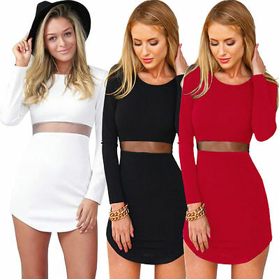New Women's Bodycon Casual Short Sleeve Evening Party Cocktail Short Mini Dress