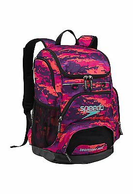 NEW! Speedo Large Teamster Backpack bag Camo Purple 35L Digi FREE FAST SHIPPING