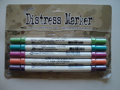 Tim Holtz Distress Markers Market Place Pack Of 5 Bnip  *look*