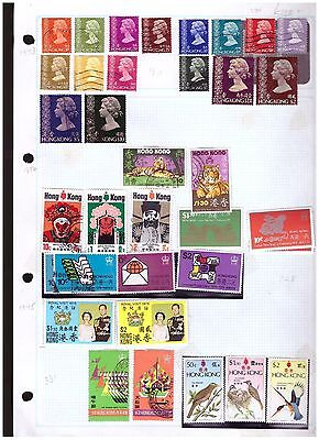 Hong Kong mostly fu  ranges from old collection (2) cat £120