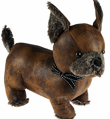 Faux Leather Style Chihuahua Door Stop - Novelty Home Gift