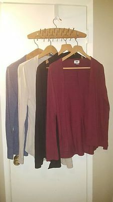 LOT of 4 Cardigans M Red Blue Black Gray Old Navy American Eagle