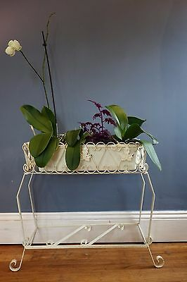 Retro Vintage Mid Century Metal Planter Plant Pot Stand Window Box