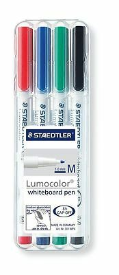 Staedtler Lumocolor Dry wipe Whiteboard Stationary Pen Assorted Colours (4 Pens)
