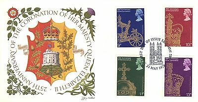 GREAT BRITAIN FIRST DAY COVER 1978 25th ANNIV OF THE CORONATION OF QE II