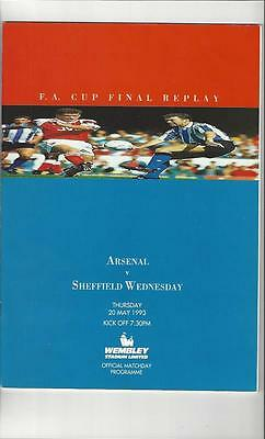 Arsenal v Sheffield Wednesday FA Cup Final Replay Football Programme 1993