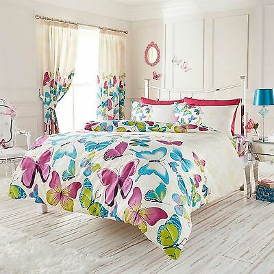 Fashion Butterfly King Size Duvet Cover And Pillowcase Bedding Set New
